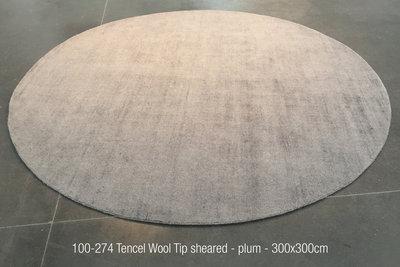 Tencel Wool Tip sheared - plum - 300x300cm