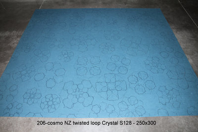 Cosmo - NZ twisted loop - Crystal - S128 - 250x300cm