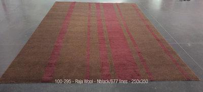 Raja Wool - Lines - Nblack/677 lines - 250x350cm