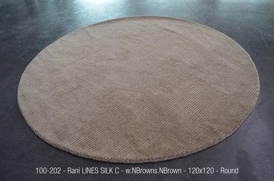 Rani LINES SILK C - w.NBrown/s.NBrown - 120x120cm round